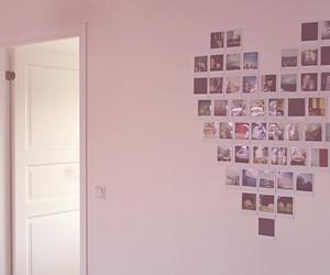 wall, heart, and photos image