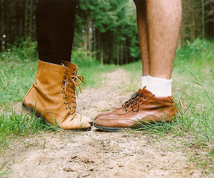 shoes, couple, and kiss image