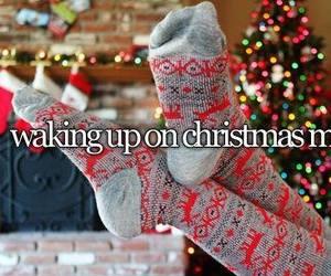 christmas, morning, and socks image