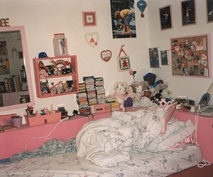 room, pink, and vintage image