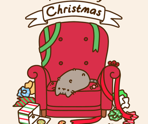 christmas, cat, and pusheen image