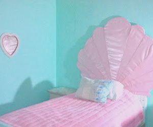 mermaid and pink image
