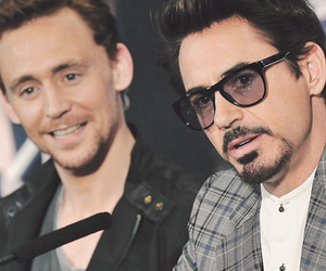 tom hiddleston, robert downey jr, and Avengers image