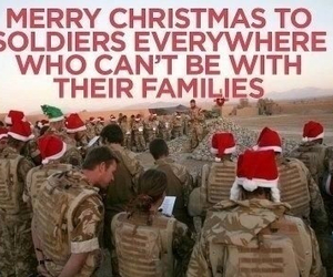 christmas, soldiers, and family image
