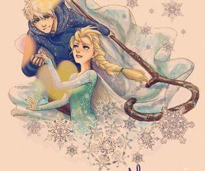 jack frost, elsa, and frozen image