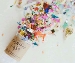 confetti, party, and push pop image