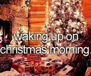 christmas, present, and morning image