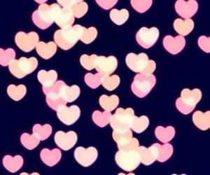 hearts, pink, and wallpaper image