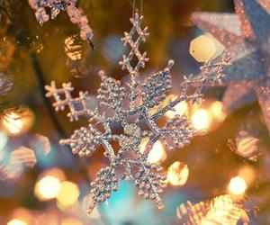 christmas, snowflake, and light image