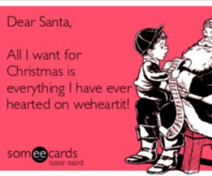 christmas, dear santa, and weheartit image