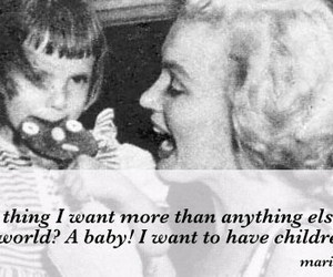 baby, children, and marylin monroe image