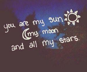 stars, sun, and love image