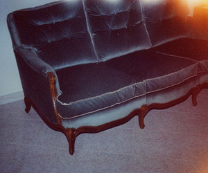 sofa, blue, and photography image