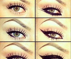 beauty, eyeliner, and glitter image