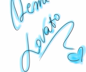 blue, demi, and demi lovato image