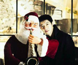 cute boy, christmas eve, and kim hyun joong image