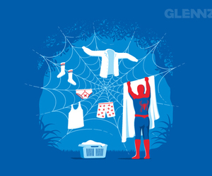 spiderman, funny, and spider image