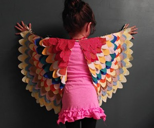 wings, bird, and costume image