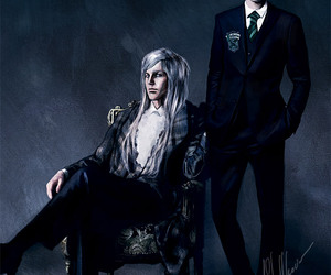 blonde, painting, and draco malfoy image