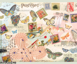 art, Letter, and butterfly image