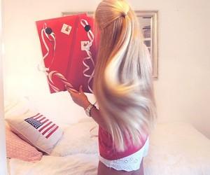 blonde, long hair, and jcg image