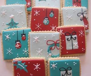 christmas, christmas cookies, and christmas lights image