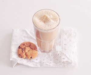 cookie, drink, and food image