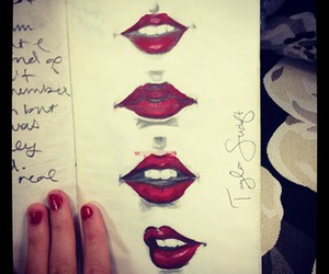 Taylor Swift, lips, and red image