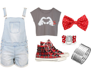fashion, minnie, and heart image