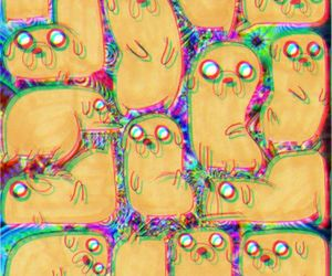colorful, trippy, and adventure time image