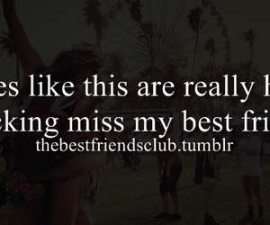 best friends, hard, and i miss you image