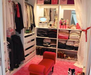 closet, interiors, and shoes image