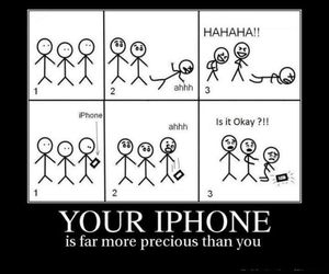 funny, iphone, and jokes image