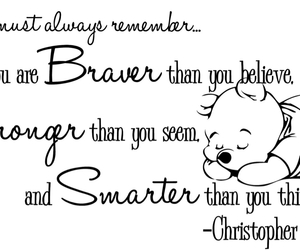 winnie the pooh, quote, and brave image