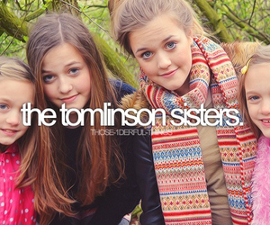 sisters, one direction, and louis tomlinson image