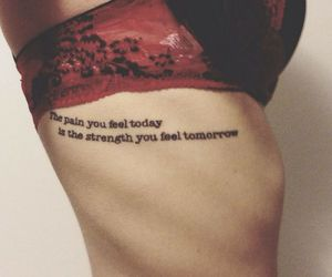 tattoo, pain, and quote image