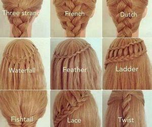 braid, braids, and hairs image