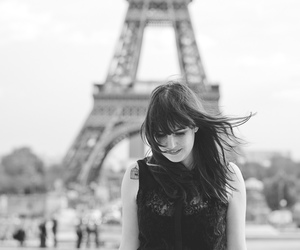 black and white, mel, and paris image