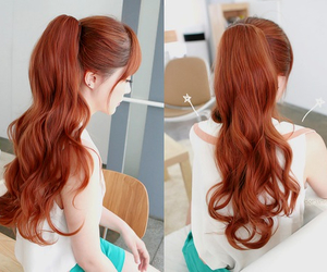 hair, ulzzang, and hairstyle image