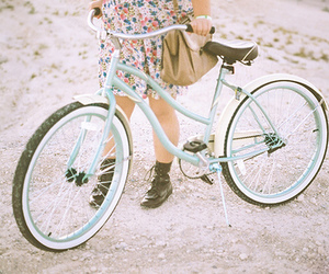 bike, girl, and vintage image