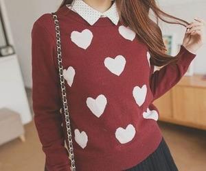 fashion, heart, and hearts image