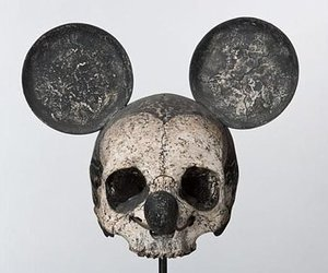 skull, mickey, and mickey mouse image