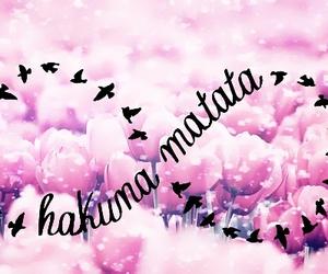 hakuna matata, pink, and infinity image