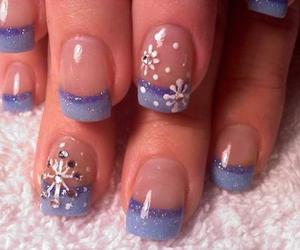 nails, winter, and snowflake image