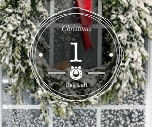 christmas, santa claus, and 1 day left image