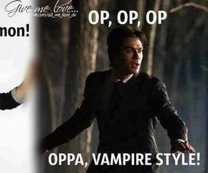tvd, damon, and the vampire diaries image