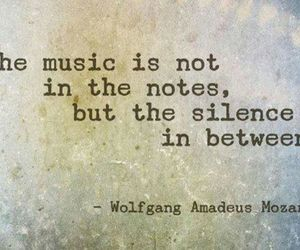 music, quotes, and silence image