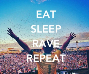 eat, music, and rave image