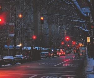 city, light, and winter image