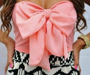 pink, fashion, and bow image